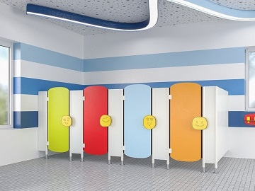<strong>BRAND NEW!</strong> Colourful designs for kindergarten toilet partitions!