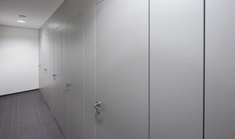 WC-Trennwände aus 30 mm Spanverbundplatten › Schäfer Trennwandsysteme